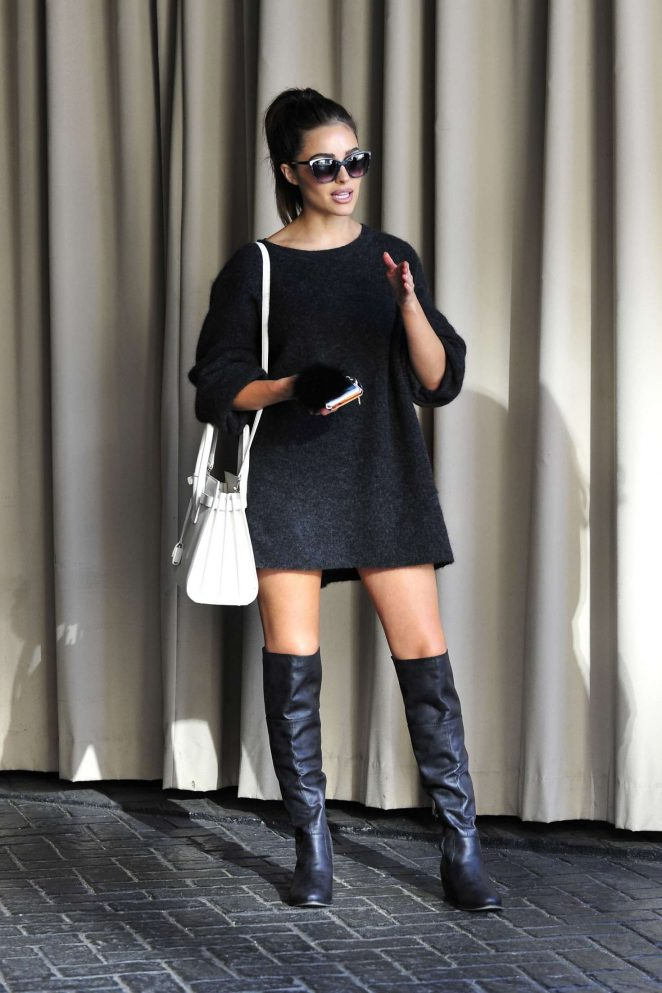 Olivia Culpo in Mini Dress Leaving Photoshoot in Los Angeles