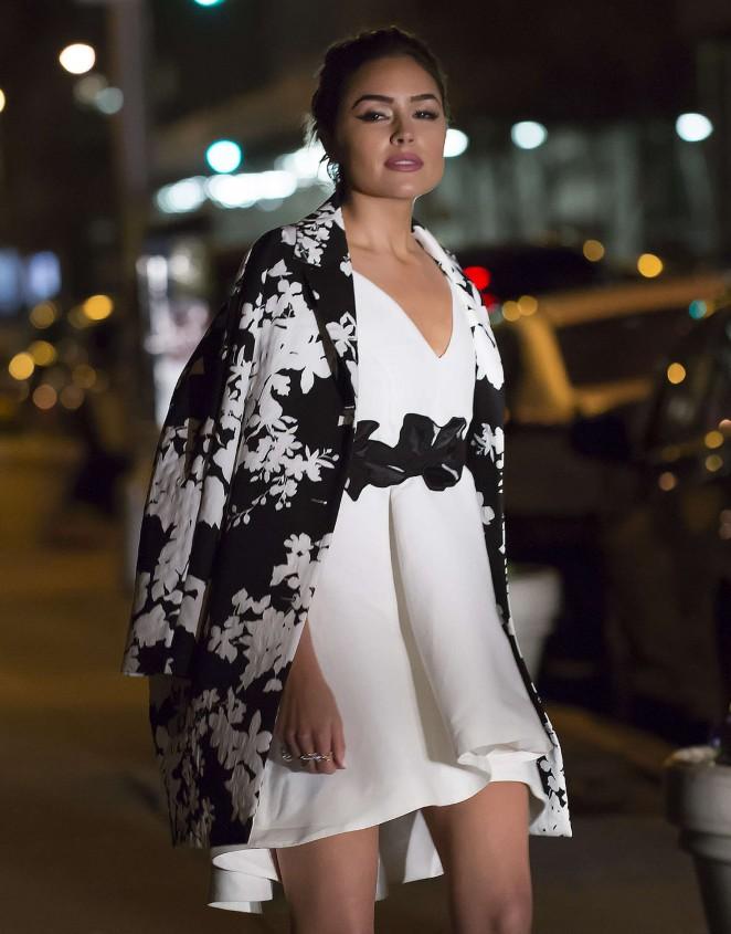 Olivia Culpo in Mini Dress out in New York