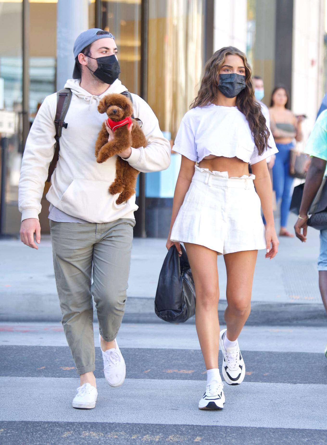 Olivia Culpo 2021 : Olivia Culpo – In mini skirt shopping in Beverly Hills-01