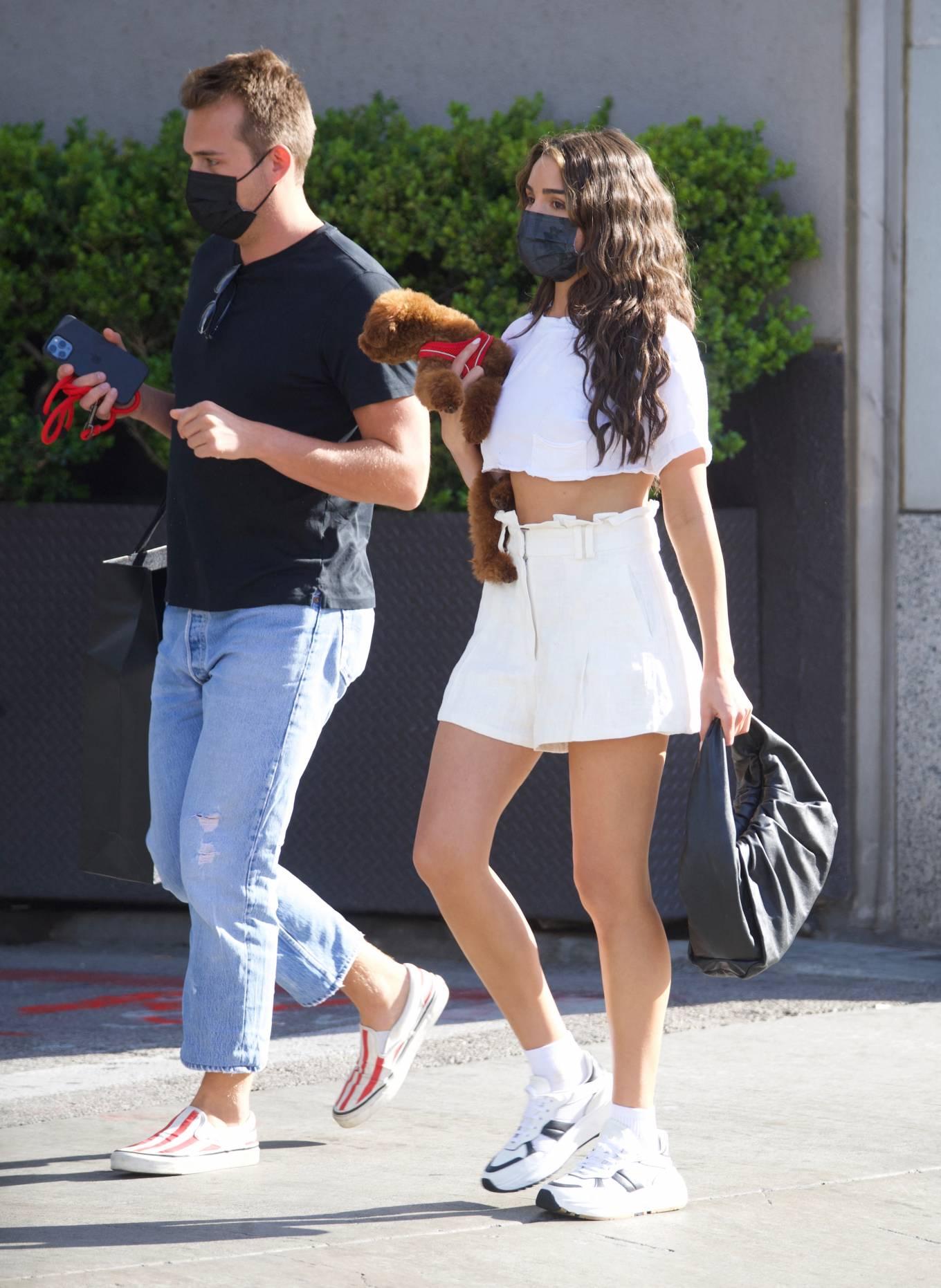 Olivia Culpo 2021 : Olivia Culpo – In mini skirt shopping in Beverly Hills-03