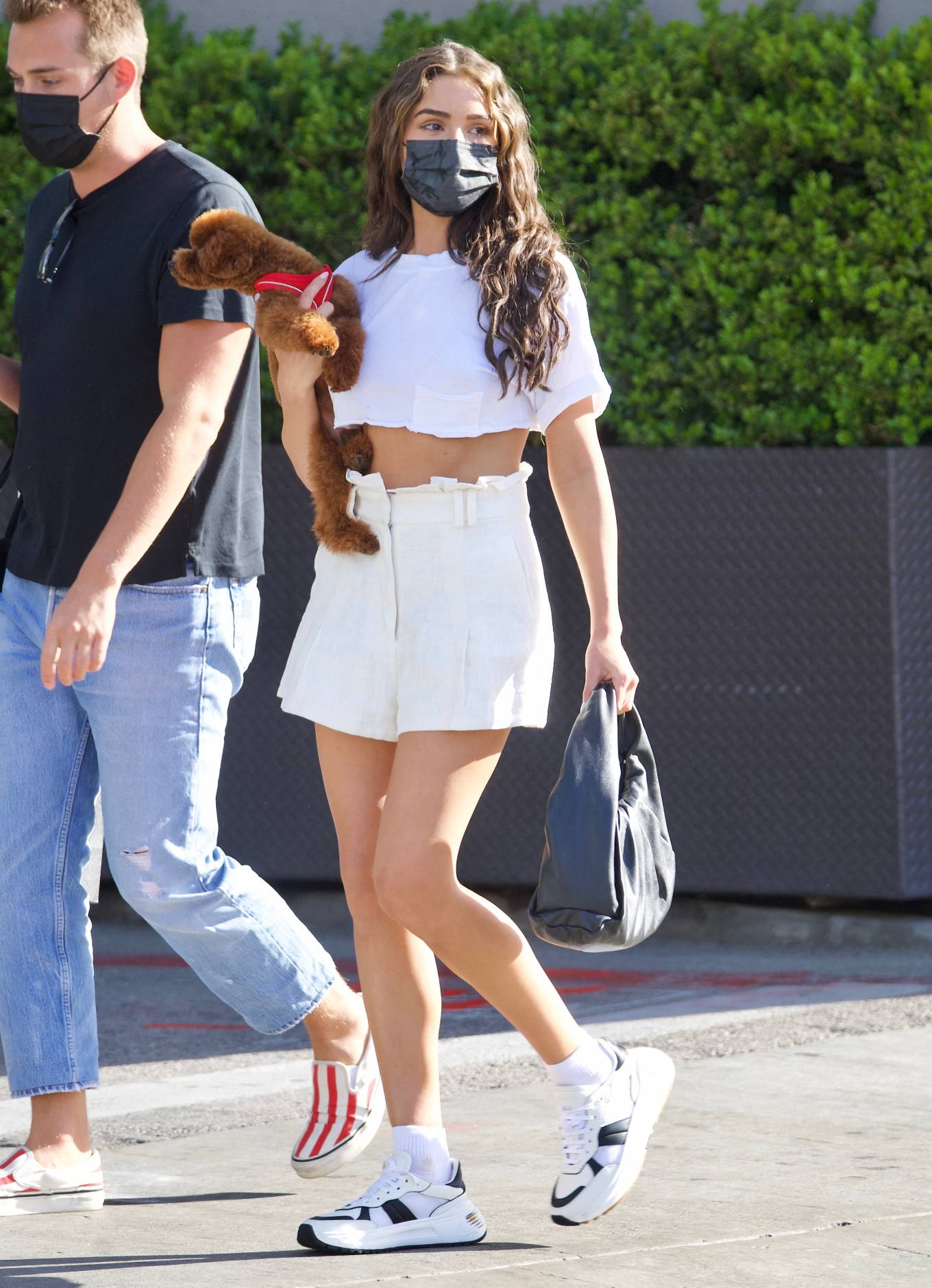 Olivia Culpo 2021 : Olivia Culpo – In mini skirt shopping in Beverly Hills-04