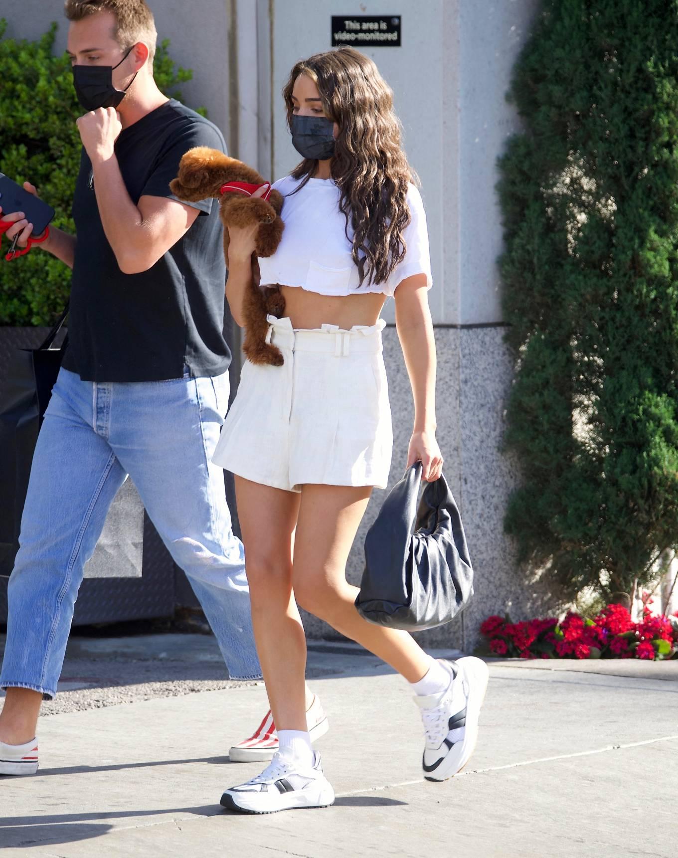 Olivia Culpo 2021 : Olivia Culpo – In mini skirt shopping in Beverly Hills-05