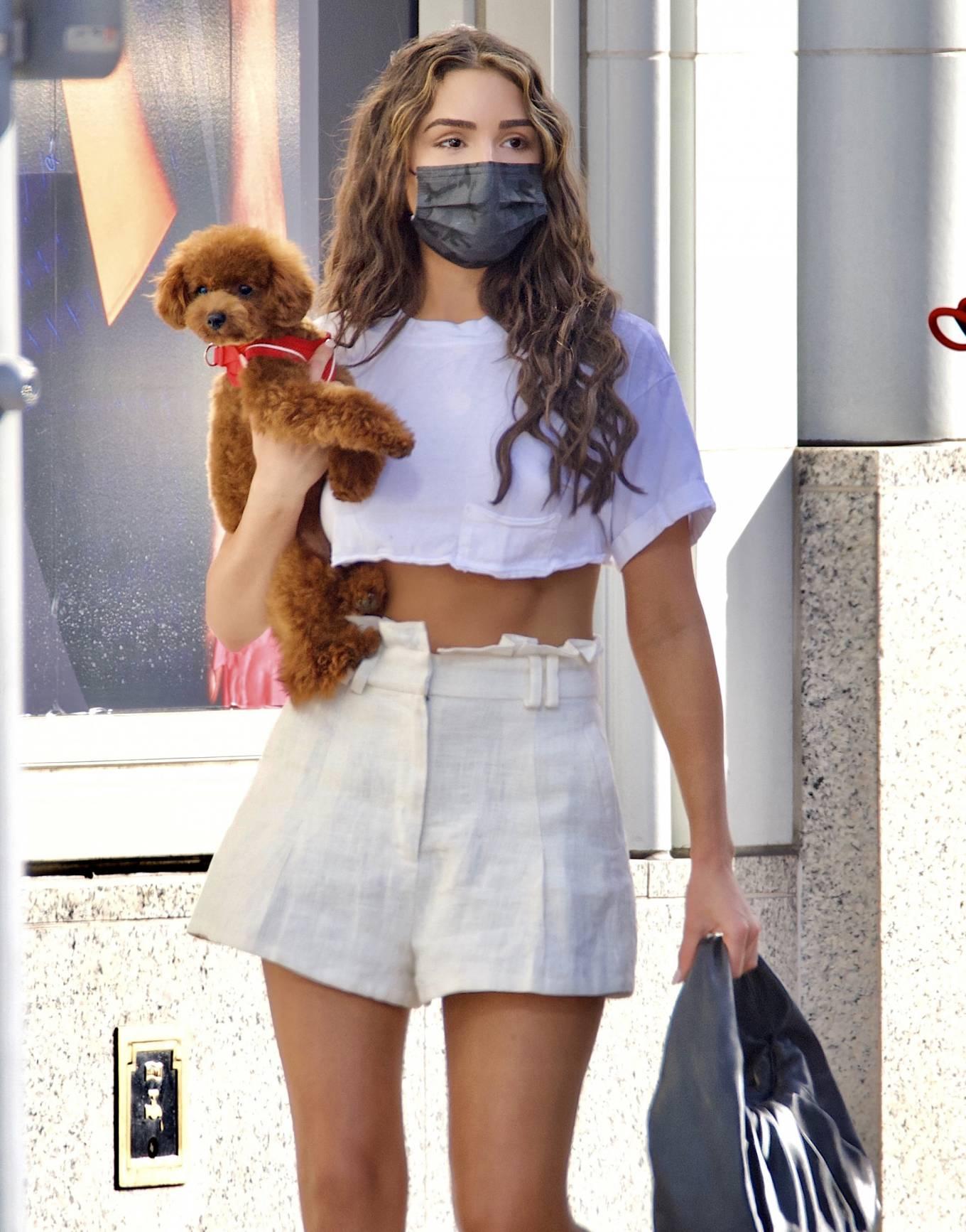 Olivia Culpo - In mini skirt shopping in Beverly Hills