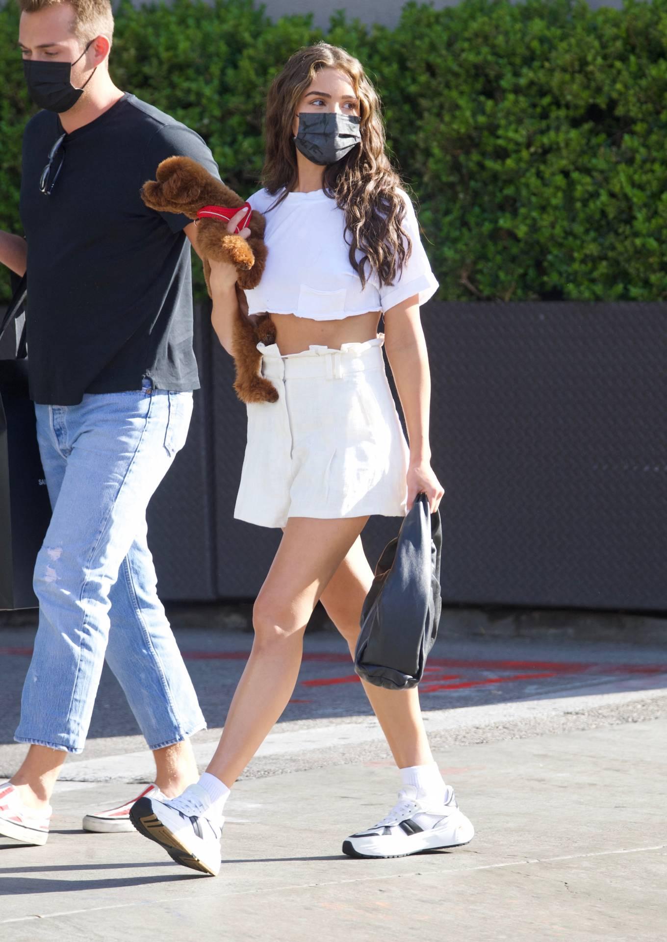 Olivia Culpo 2021 : Olivia Culpo – In mini skirt shopping in Beverly Hills-09