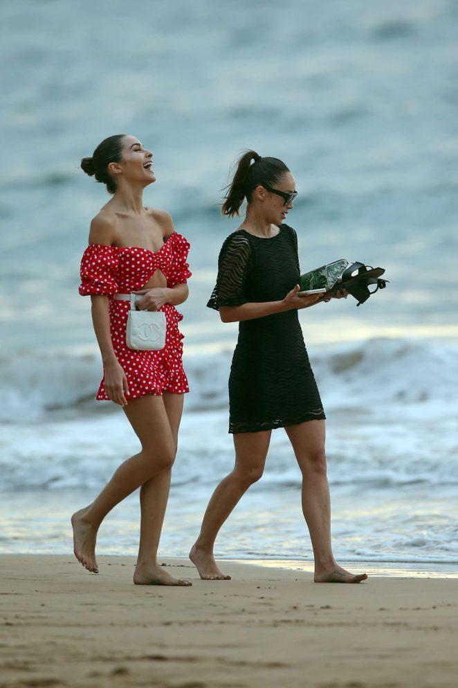 Olivia Culpo in Red Mini Dress -09