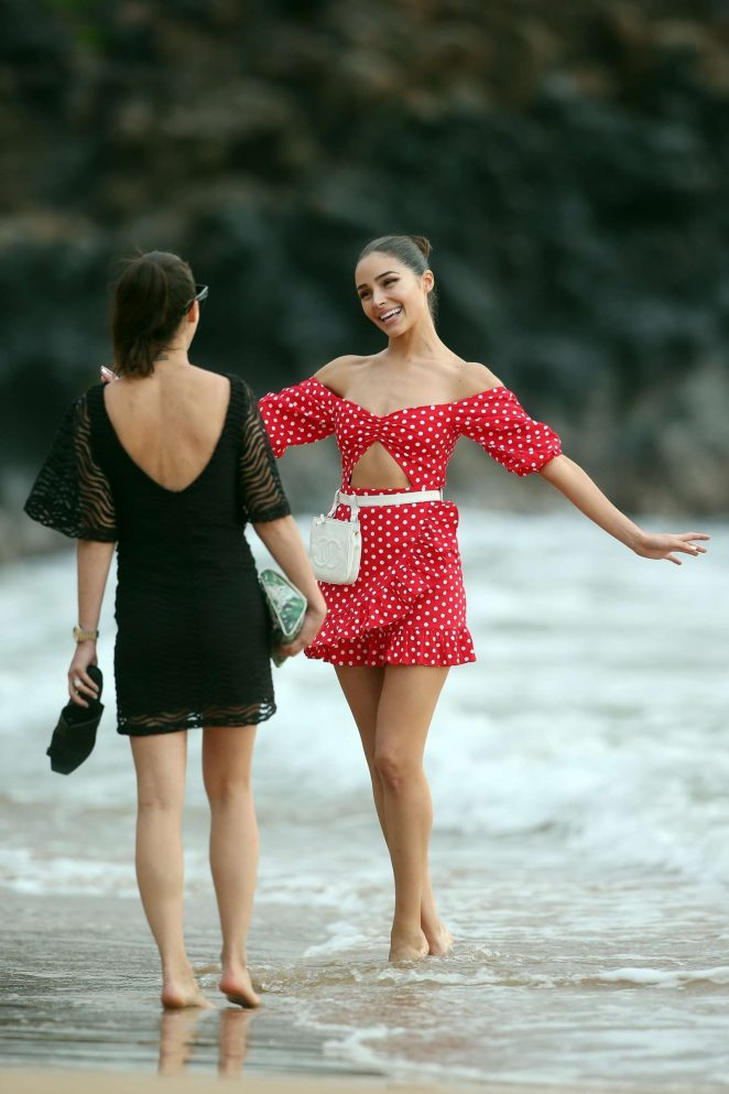 Olivia Culpo in Red Mini Dress -22