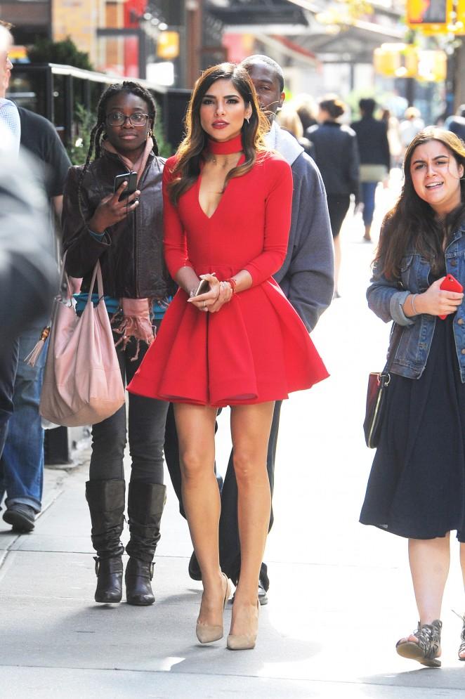 Olivia Culpo in Red Mini Dress -03
