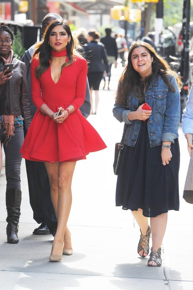 Olivia Culpo in Red Mini Dress -06