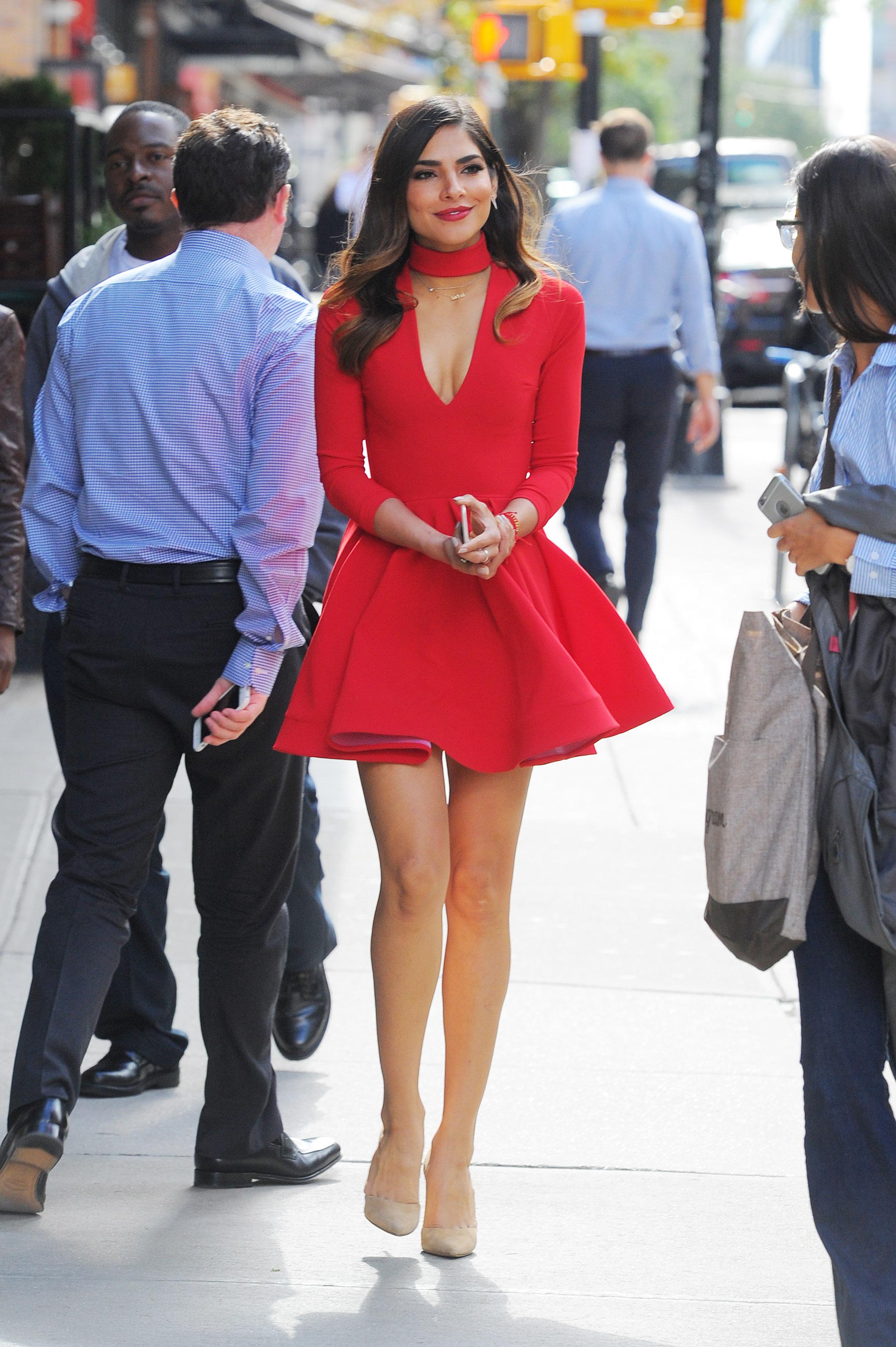 Olivia Culpo in Red Mini Dress -09 - GotCeleb Miley Cyrus
