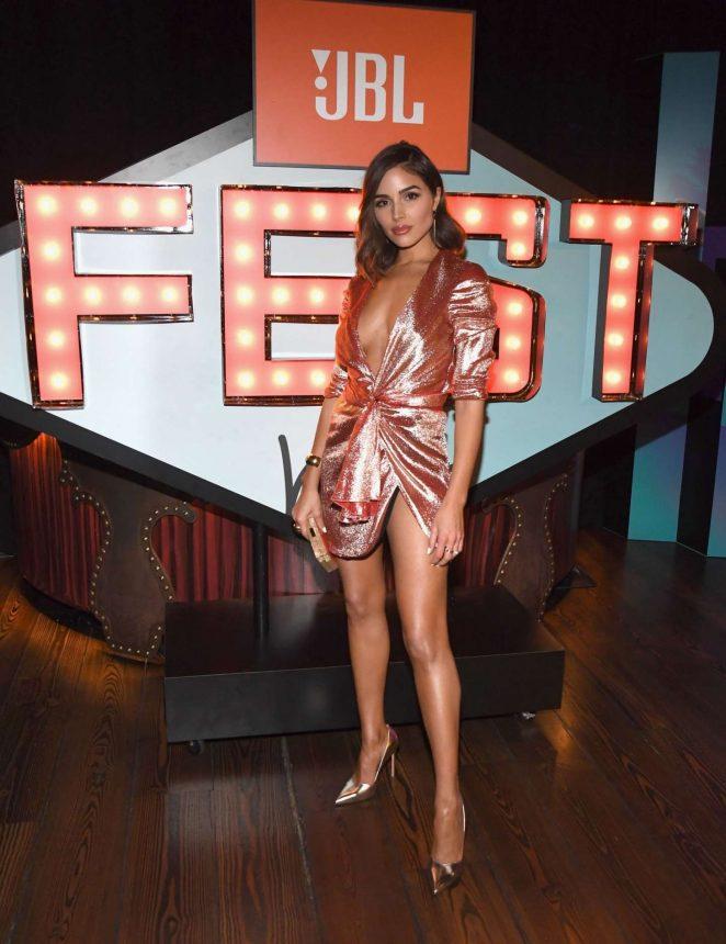 Olivia Culpo - In Silver Dress hosts JBL Fest 2018 in Las Vegas