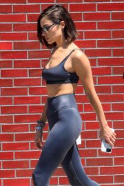 Olivia Culpo in Tights and Sports Bra - Out in West Hollywood