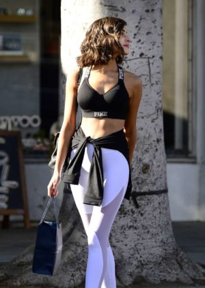 Olivia Culpo - Leaves a hair salon in Beverly Hills