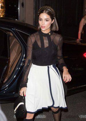 Olivia Culpo - Leaves her hotel in Paris