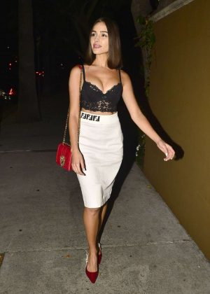Olivia Culpo - Leaves the Four Seasons hotel in Beverly Hills