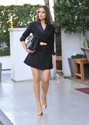 Olivia Culpo - Leaving an Office Building in LA