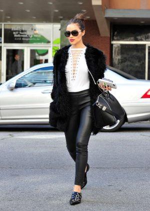 Olivia Culpo - Leaving an office building in LA