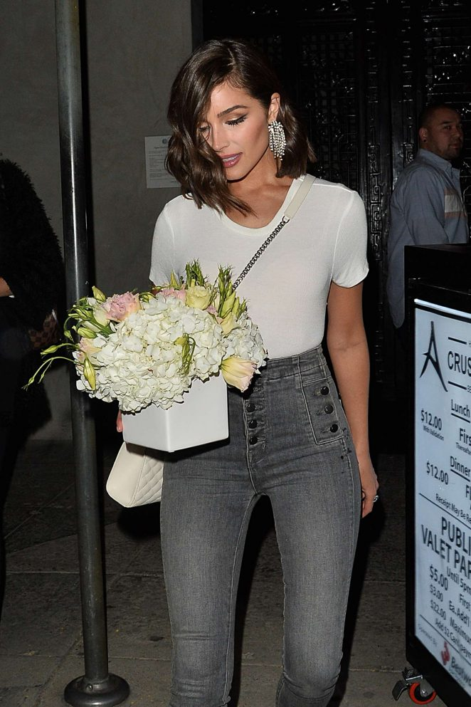 Olivia Culpo - Leaving 'Crustacean' Restaurant in Beverly Hills