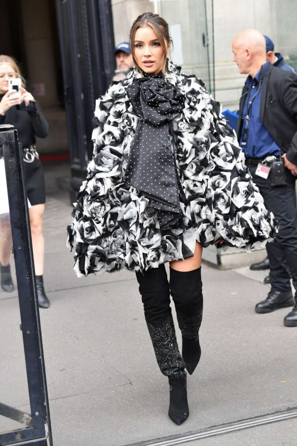 Olivia Culpo - Leaving Redemption Fashion Show in Paris
