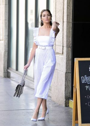 Olivia Culpo - Leaving The Pie Hole Gourmet Pie & Coffee Shop in LA