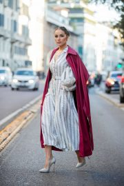 Olivia Culpo - Looks stylis while out and about at Milan Fashion Week