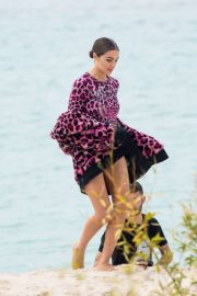 Olivia Culpo - On set of a photoshoot in Cannes