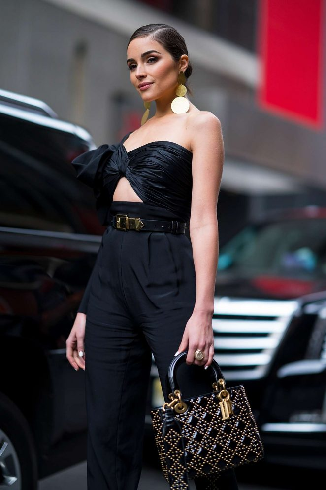 Olivia Culpo out in Midtown NYC