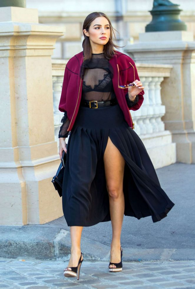 Olivia Culpo Out in Paris