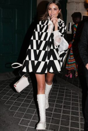 Olivia Culpo - Pictured leaving Valentino party during the Paris Fashion Week