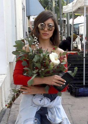 Olivia Culpo Shopping at Farmer's Market in Hollywood