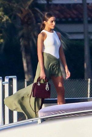 Olivia Culpo - Spotted at boat party in Miami Beach