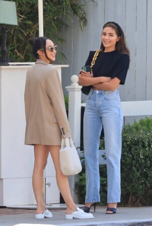 Olivia Culpo - Steps out with Cara Santana in West Hollywood