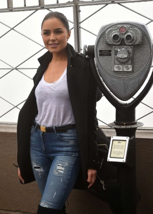 Olivia Culpo - The Lighting Ceremony of The Empire State Building in NYC