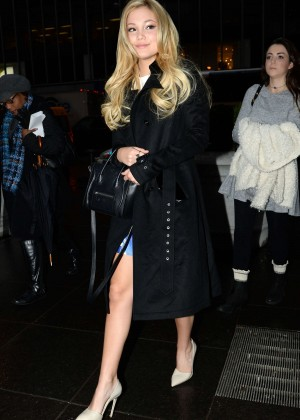Olivia Holt - Arrives at 'FOX & Friends' in NYC