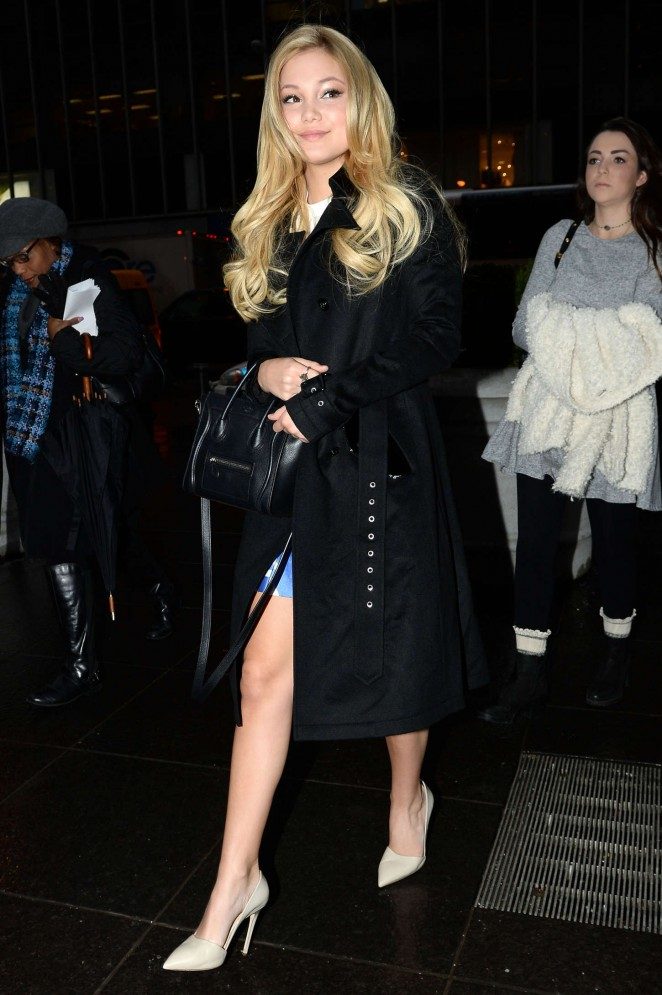 Olivia Holt – Arrives at 'FOX & Friends' in NYC