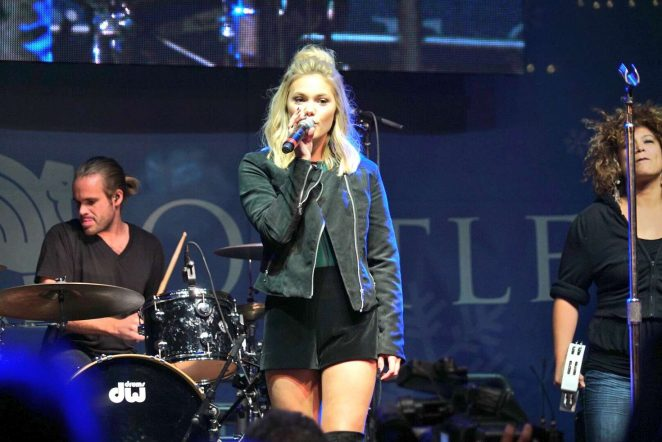 Olivia Holt at Rise of a Phoenix Tour 2nd Concert at Citadel Outlets Tree Lighting Event in LA