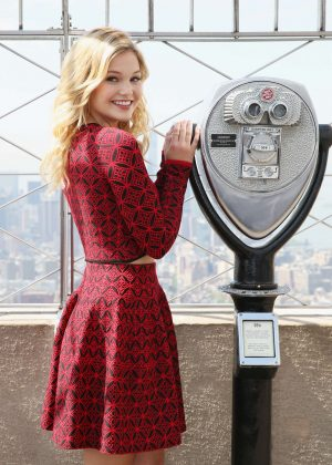 Olivia Holt at the Empire State Building in New York
