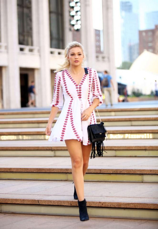 Olivia Holt in Mini Dress -18