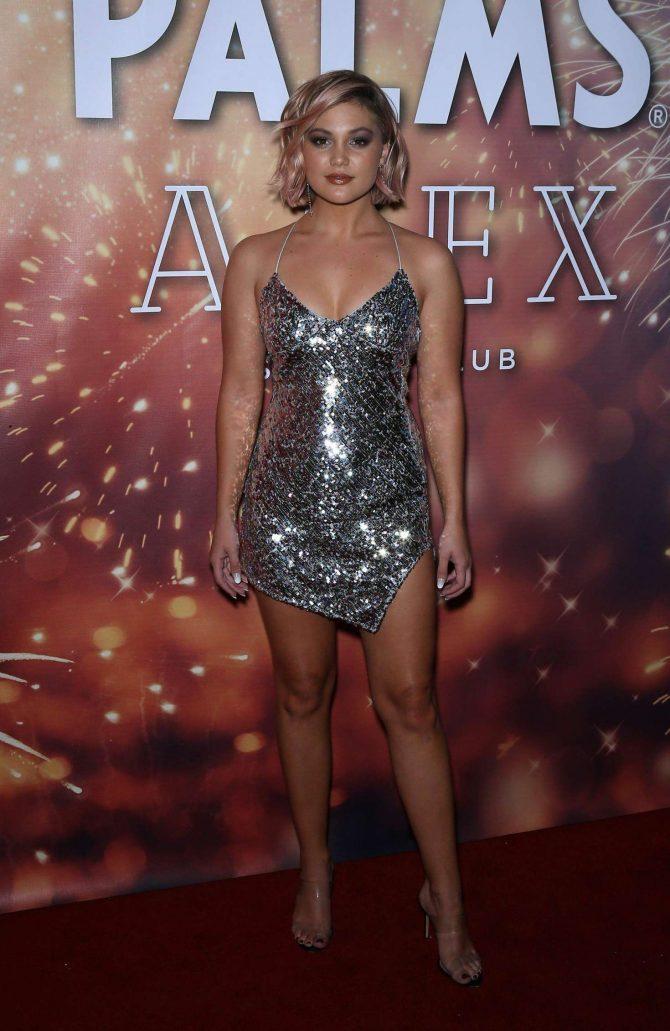 Olivia Holt Celebrates New Years at APEX Social Club at
