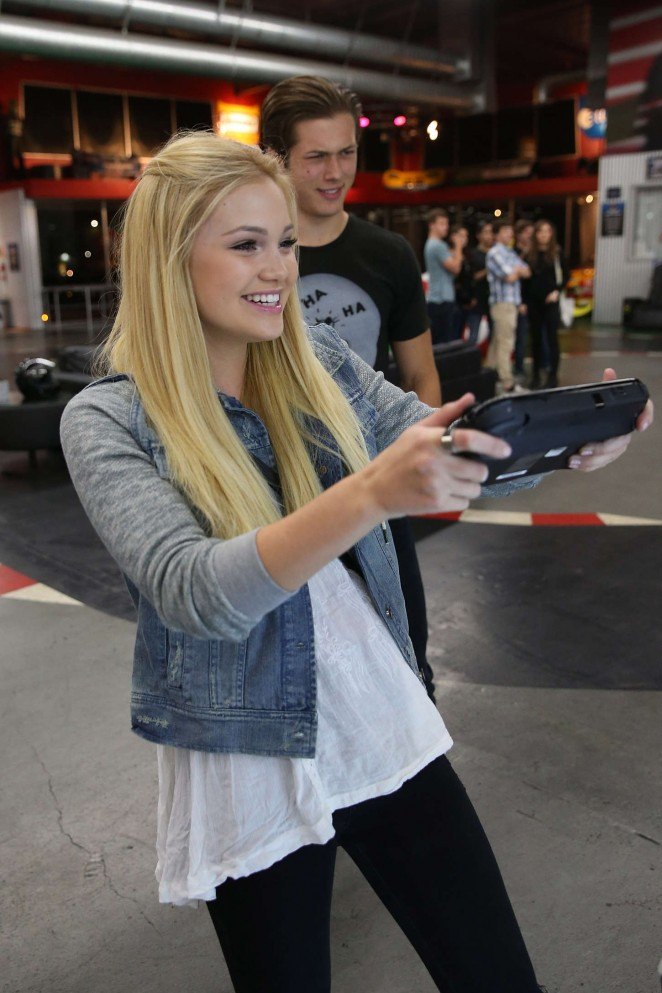 Olivia Holt - Dylan Riley Snyder Races Into His 18th Year With Nintendo in Gardena