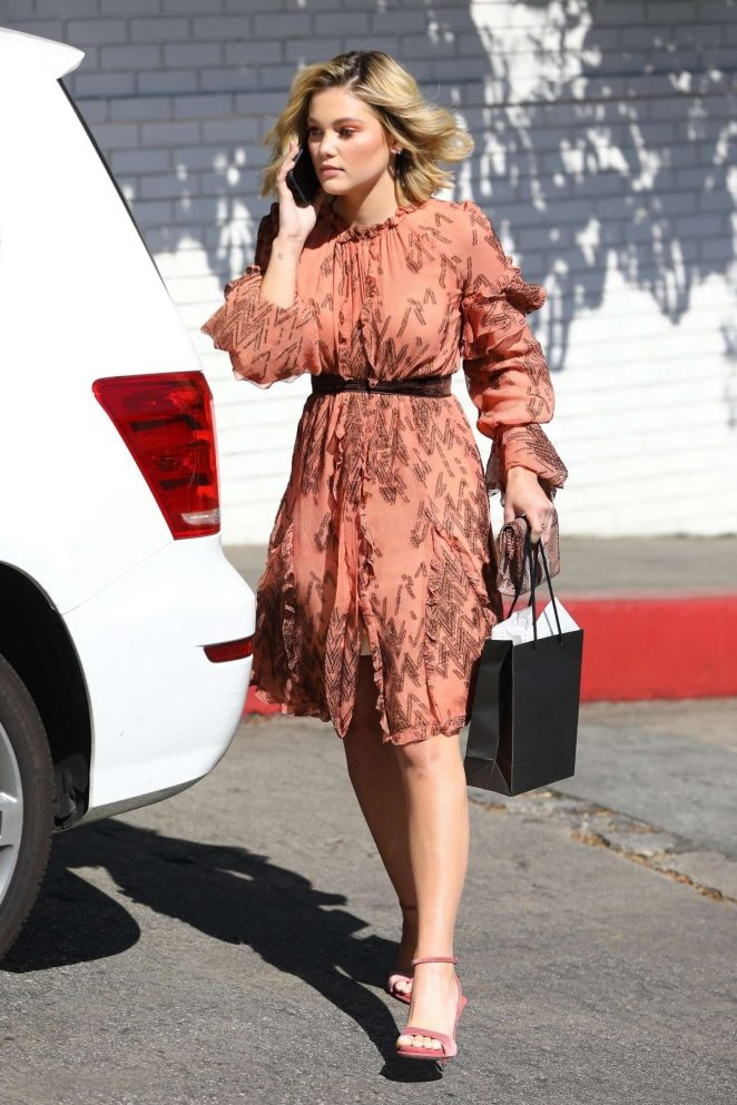 Olivia Holt - Leaving the CFDA Luncheon in Los Angeles