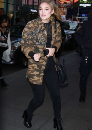 Olivia Holt - Leaving the MTV TRL Studios in NYC