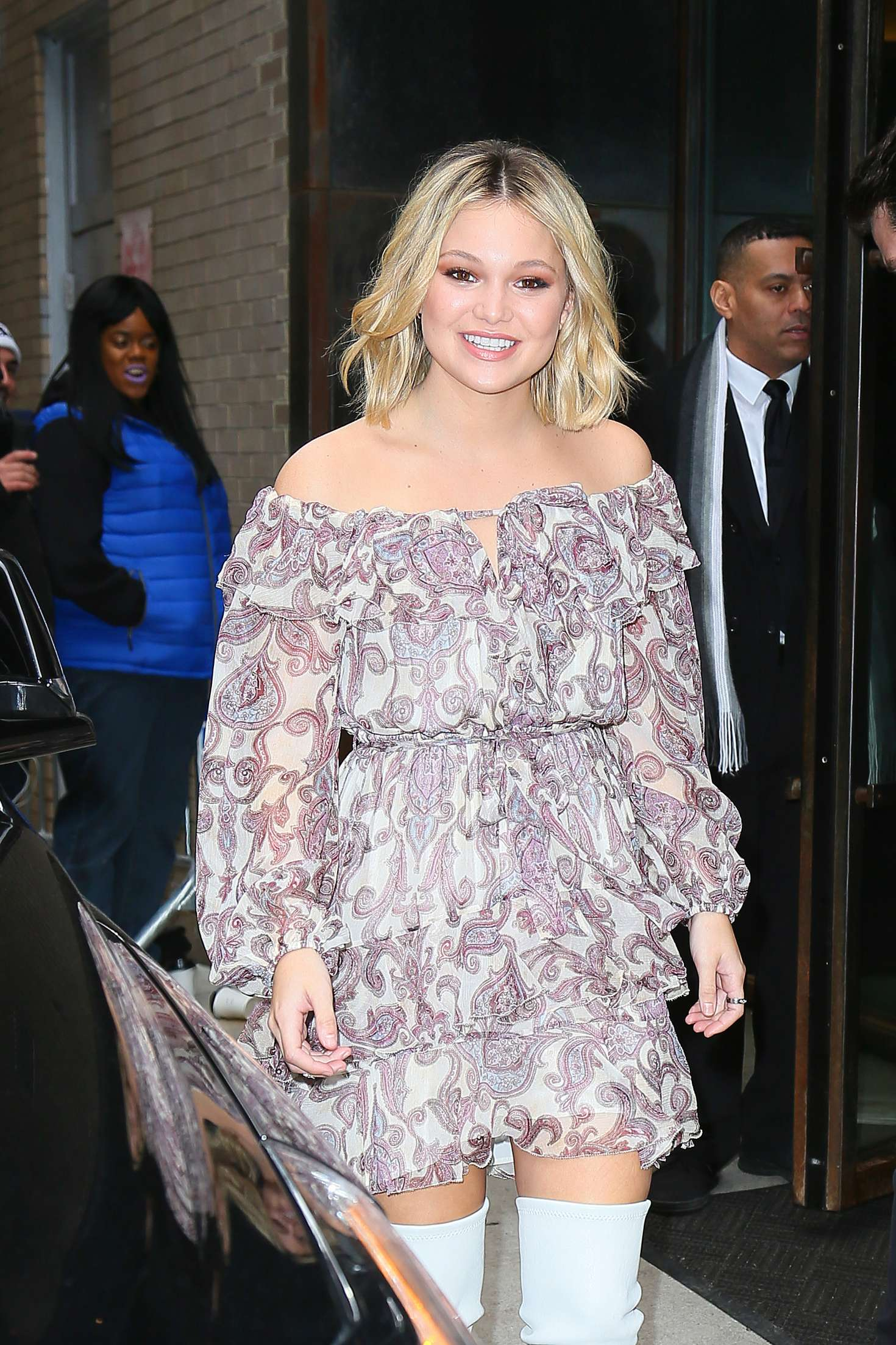 Olivia Holt - Leaving Zimmerman Fashion Show 2018 in NYC