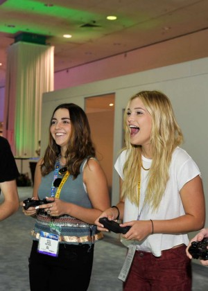 Olivia Holt: Nintendo hosts celebrities at 2015 E3 Gaming Convention -03