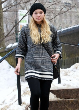 Olivia Holt in Leggings Out in NYC
