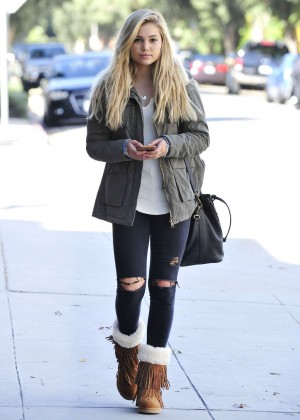 Olivia Holt in Ripped Jeans out in Los Angeles