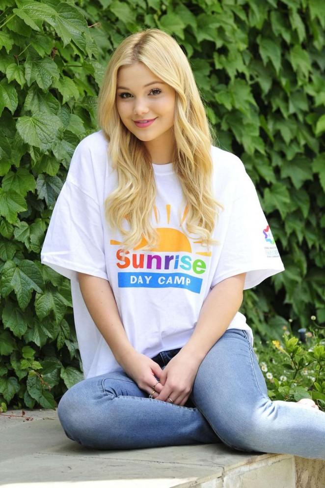Olivia Holt - Photoshoot to Support Sunrise Day Camp 2015