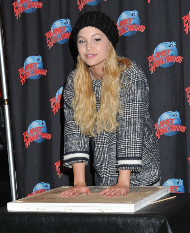 Olivia Holt - Planet Hollywood Times Square in NYC