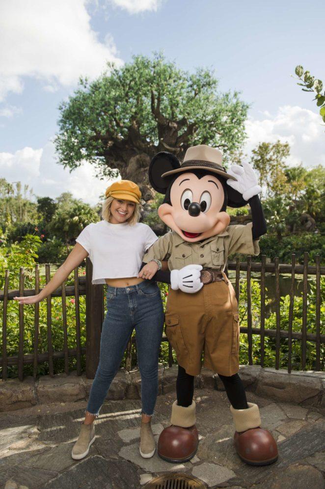 Olivia Holt – Visits Disney's Animal Kingdom at Disney World in Florida