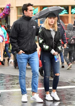 Olivia Holt With Boyfriend Ray Kearing at The Happiest Place on Earth in LA