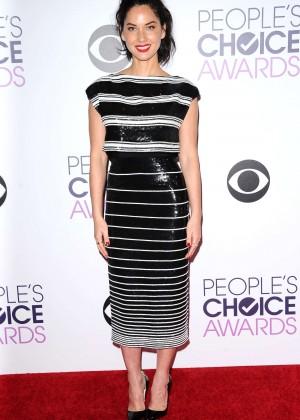 Olivia Munn: 2015 Peoples Choice Awards -30